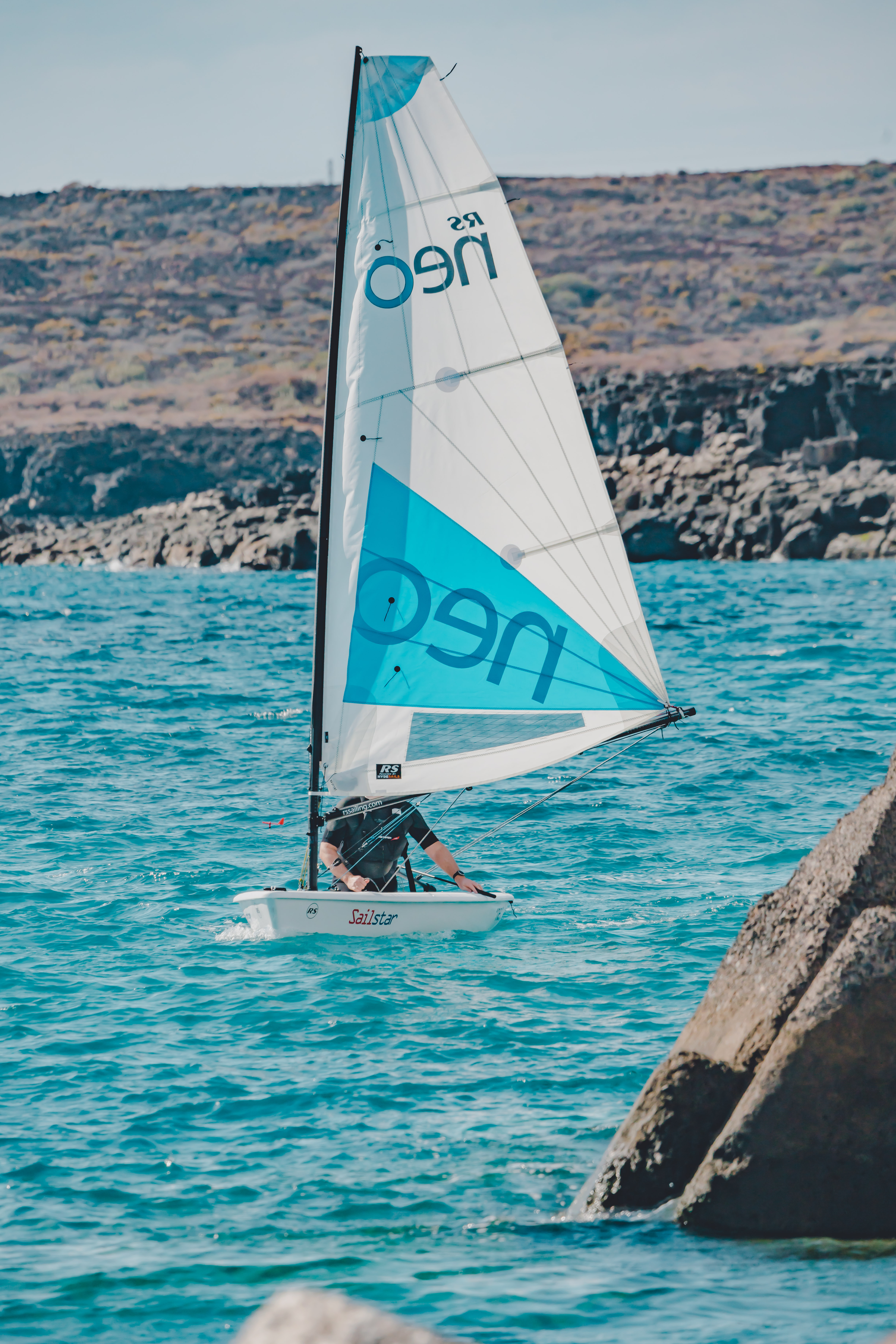 single handed dinghy rs neo in tenerife